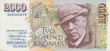 More details for iceland p57a 2000 kronur 1986 banknote in near mint condition