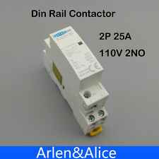 TOCT1 2P 25A 110V COIL 50/60HZ Din rail Household ac contactor 2NO