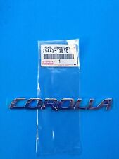 BRAND NEW - TOYOTA PLATE, BACK DOOR NAME PART# 75442-12B10