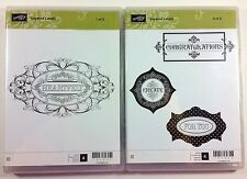 Stampin' Up! Layered Labels Clear Rubber Stamp Heartfelt Create Congratulations