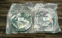 LOT of 2 Monoprice 10ft 3 RCA Composite AV Audio Video Cable Gold Plated  A24