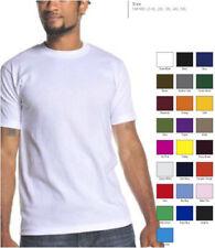 Pro Club Hombre Liso Gruesa Camiseta Manga Corta S-4XL Informal de Algodón