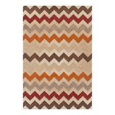 Portland Soft Chevron Zig Zag Warm Design Hand-carved ALL SIZES Rugs Runners