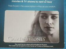 Game Of Thrones: DAENERYS TARGARYEN Collectible Plastic Top-Up Card UK Exclusive