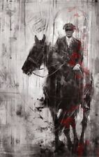 """Peaky Blinders Tommy Shelby On Horse Wall Art Canvas 22"""" X 14"""" solid frame"""