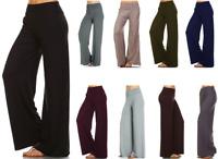 USA MADE WOMENS FASHION FLOWY PALAZZO PANTS BOTTOMS MOCHA S M L XL