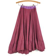 Unbranded Handmade Burgundy Circle Skirt Womens XS Small