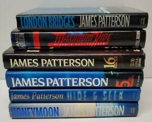 LOT OF 6 HB/DJ JAMES PATTERSON Hide and Seek London Bridges Honeymoon 5th 16th
