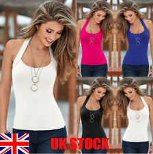 UK Womens Ladies Summer Vest Top Sleeveless Blouse Casual Tank Tops T-Shirt