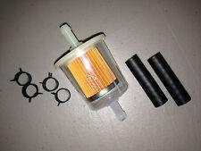 "GKI GF61PL 5/16"" Plastic Inline Gas/Fuel Filter & Hoses/Clamps fits G2 G12 GF61"