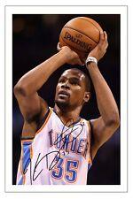 Kevin Durant Oklahoma City Thunder Autographe Signé Basket d'impression photo