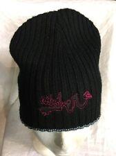 stocking hat Quicksilver Reversible  Black Snowboard ski retro tuque cap beanie