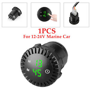 1PCS 12-24V Marine Car Clock Refit Interior LED Luminous Time Display Universal