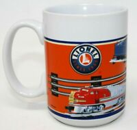 Lionel Trains Coffee Mug Cup 2006 Sherwood Brand Railroad Train Blue Orange
