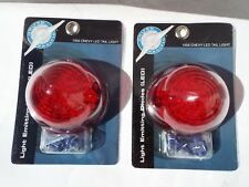 56 1956 Chevy Chevrolet Pair 40 LED Tail Light Red Lens 150, 210, Belair, Nomad