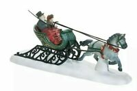 DASHING THROUGH THE SN0W 58203 HORSE AND SLEIGH RETIRED DICKENS VILLAGE Dept 56
