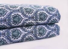 10 Yard Sanganeri Hand Screen Printed Cotton Indian Natural Running Fabric Decor