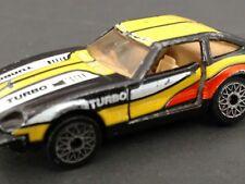 MATCH BOX car 1982 datsun 280Z 2 x 2 1:59 scale black/ yellow vintage metal