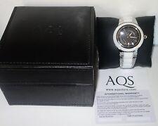 AQUASWISS WHITE Ceramic/Stainless Steel Swiss Watch RETAIL $1,400 NEW