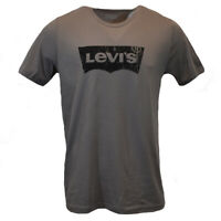 LEVI'S Men's T-shirt  Batwing Logo -Vintage Look 100%Cotton MEDIUM & LARGE GREY