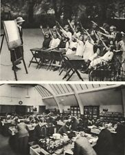 LONDON. Open- Air classes in Lincoln's Inn fields & a Polytechnic Lab 1926