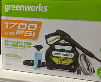 New Greenworks Electric Pressure Washer 1700 PSI 1.2-GPM Pump Cold Water GPW1704