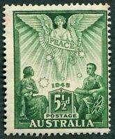 AUSTRALIA 1946 5 1/2d green SG215 mint MH FG Victory Commemoration b #W36