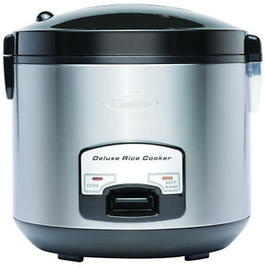 Premium Deluxe 20 Cup Cool Touch Rice Cooker and Warmer with Steam Basket