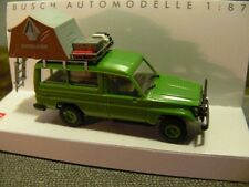 1/87 Busch Toyota Land Cruiser HZJ 78 mit Dachzelt hellgrün 43514