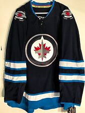 Reebok Authentic NHL Jersey Winnipeg Jets Team Navy sz 52