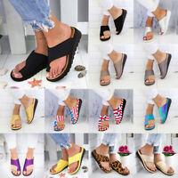 Women's Comfy Platform Sandal Shoes Ankle Strap Peep Toe Correction Toe 12 Color