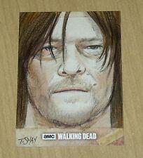 2017 Topps Walking Dead Season 6 SKETCH card 1/1 Tim Shay DARYL DIXON