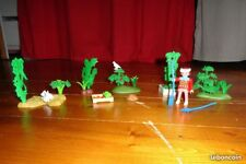 Lot Playmobil jardin, arbres, animaux... - TTBE