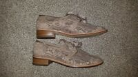 Adrianna Papell Paisley Lace Oxfords Shoes Sz 8/38, Pre-owned