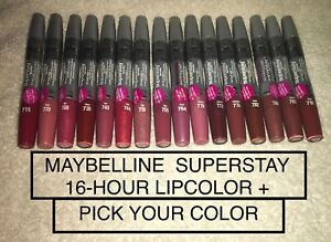 MAYBELLINE SUPERSTAY 16 Hour, Lipcolor/ Lipgloss - NEW IN PLASTIC - YOU CHOOSE