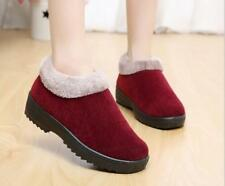 Winter Simple Thicken Anti-slip Mother Shoes Women Soft Warm Flat Cotton Shoes