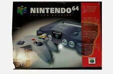 N64 new  Nintendo 64 new never played nib flawless system original packaging
