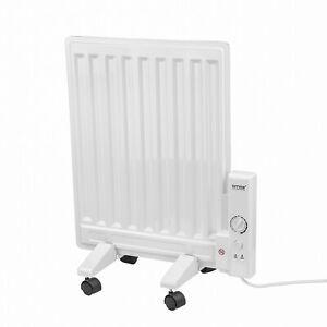 AMOS 400W Oil Filled Slim Panel Radiator Adjustable Thermostat Home Heater