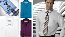 Mens Shirt Geoffrey Beene Regular Fit Cotton Rich Easy Iron Long Sleeve