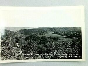 Vintage Postcard RPPC Scene from Ridgewood McGregor Iowa Toward Mississippi Rive