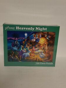 Vermont Christmas Company Jigsaw Puzzle 100 Piece Heavenly Night NEW SEALED