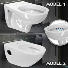 Design Hänge WC Toilette Keramik Tiefspüler Wand Hängetoilette Weiß