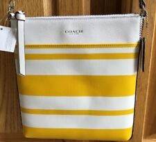 NWT COACH #51559 YELLOW & WHITE CROSSBODY PURSE