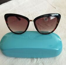 Kate Spade NY Cissy Women's Brown/Gold Cateye Sunglasses NWT Case