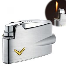 RONSON CLASSIC DESIGN Premier Mini Varaflame Gas Lighter Chrome Silver R31-0001