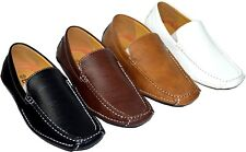 New casual leather loafer Comfortable Driving Moccasins Men's Shoes Slip on cowf