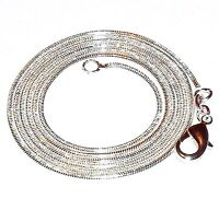 """CN424e Snake Chain 1.2mm .925 Sterling Silver-Plate Lobster Clasp Necklace 30"""""""