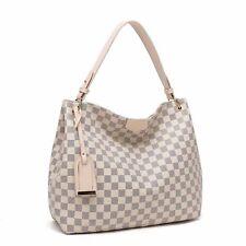 Designer Inspired Checker board Slouch bag (Various colours)