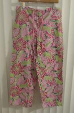 Womens VERA BRADLEY Pinwheel Pink Paisley Floral Lounge Pajama Pants ~ M (G39)