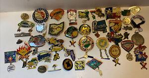 Large Lot Of Vintage Fastpitch Softball & Little League Baseball Pins Pinbacks